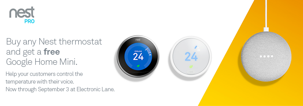 Buy Nest thermostat get free Google Home Mini